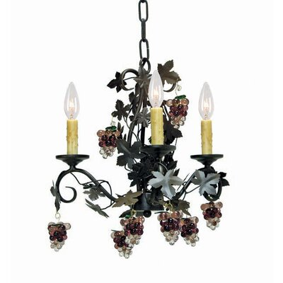 Vineyard 3-Light Candle-Style Chandelier