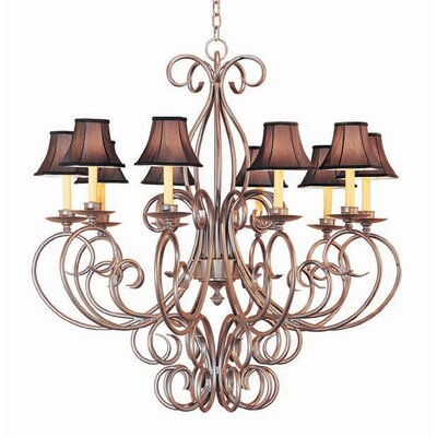 Phillipe 10-Light Shaded Chandelier