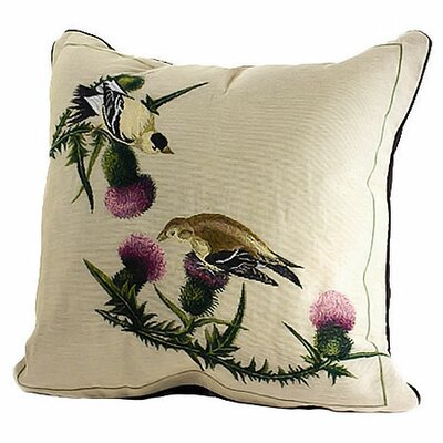 Bird Watchers Goldfinch Throw Pillow