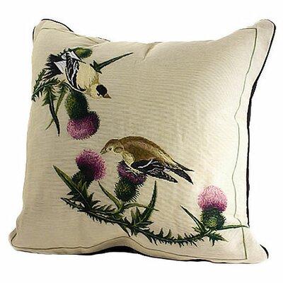 Bird Watchers Goldfinch Throw Pillow