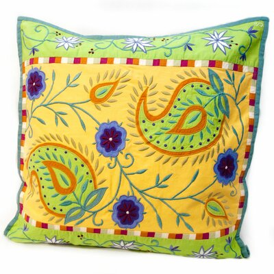 Susan Sargent Spring Paisley Accent Cotton Throw Pillow