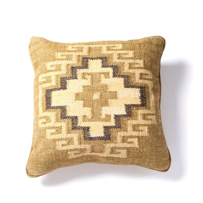 Marrakesh Cotton Throw Pillow Color: Camel