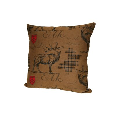 Elk Throw Pillow Color: Brown