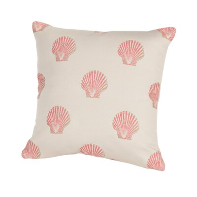 Coastal Scallop Indoor/Outdoor Throw Pillow Size: 24 H x 24 W x 5 D, Color: Pink