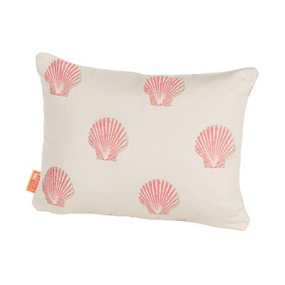Coastal Scallop Indoor/Outdoor Boudoir/Breakfast Pillow Color: Pink