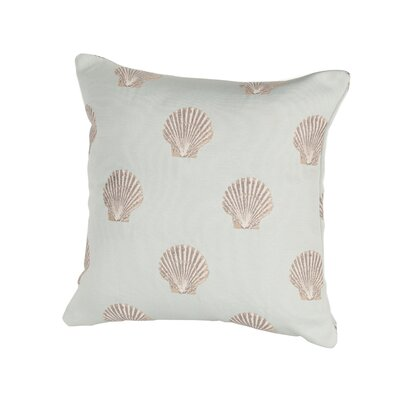 Coastal Scallop Indoor/Outdoor Throw Pillow Size: 17 H x 17 W x 4 D, Color: Blue