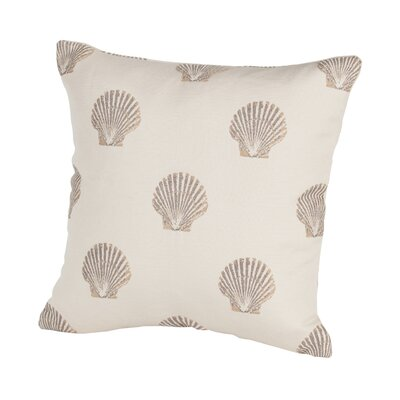 Coastal Scallop Indoor/Outdoor Throw Pillow Size: 17 H x 17 W x 4 D, Color: Sand