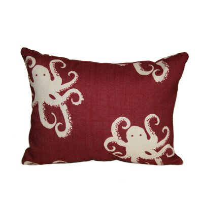 Octopoda Boudoir/Breakfast Pillow Color: Red
