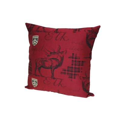 Elk Throw Pillow Color: Red