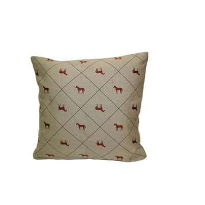 Saratoga Cotton Blend Throw Pillow Size: 18 H x 18 W