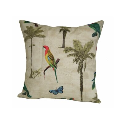 Coastal Hearts of Palm Indoor/Outdoor Throw Pillow Size: 24 H x 24 W x 5 D, Color: Toffee