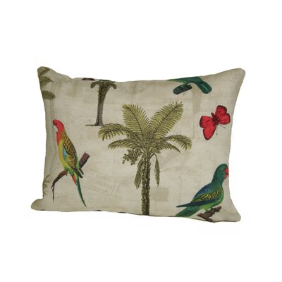 Coastal Hearts of Palm Outdoor Lumbar Pillow Color: Natural