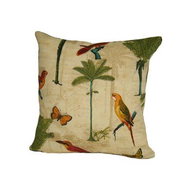 Sunbury Hearts of Palm Indoor/Outdoor Throw Pillow Size: 17 H x 17 W x 4 D, Color: Toffee