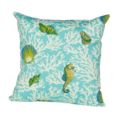 Kittery Indoor/Outdoor Throw Pillow Size: 17 H x 17 W x 4 D, Color: Aqua