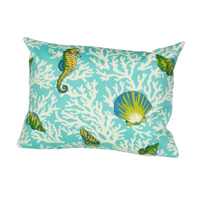 Kittery Indoor/Outdoor Lumbar Pillow Color: Aqua