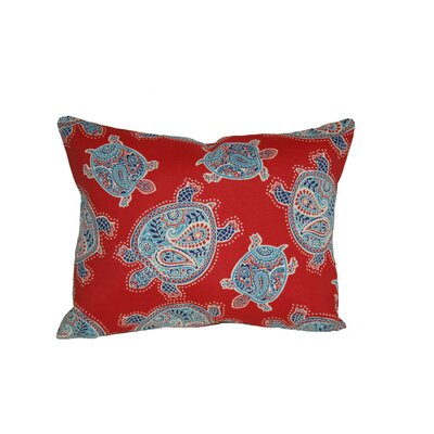 Sunbury Tranquil Turtles Outdoor Lumbar Pillow Color: Blue