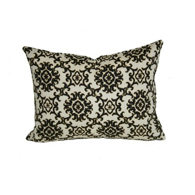 Sunbury Medallion Indoor/Outdoor Lumbar Pillow Color: Black