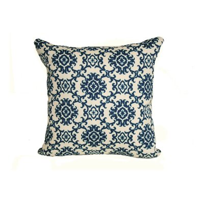 Coastal Medallion Indoor/Outdoor Throw Pillow Size: 24 H x 24 W x 5 D, Color: Blue
