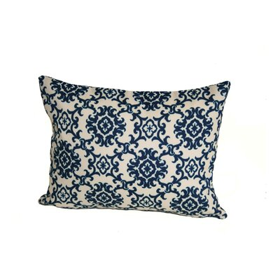 Sunbury Medallion Indoor/Outdoor Lumbar Pillow Color: Blue
