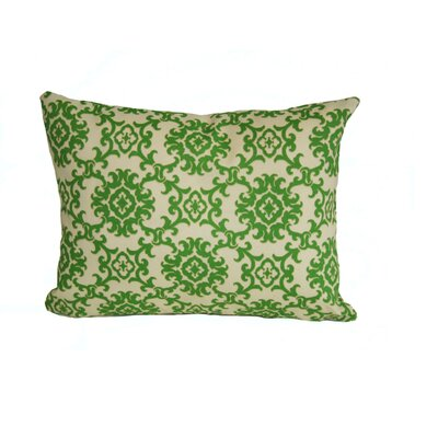 Sunbury Medallion Indoor/Outdoor Lumbar Pillow Color: Green