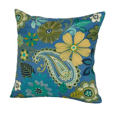 Gaya Outdoor/Indoor Throw Pillow Color: Blue, Size: 24 H x 24 W x 5 D
