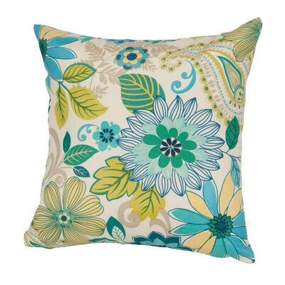 Gaya Outdoor/Indoor Throw Pillow Size: 17 H x 17 W x 4 D, Color: Natural