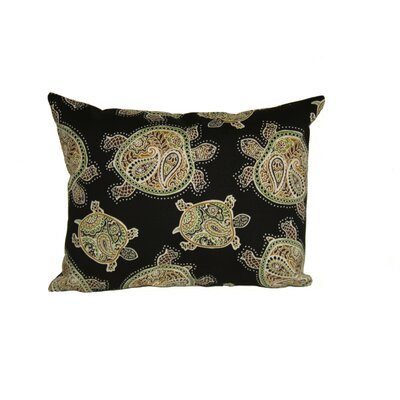 Sunbury Tranquil Turtles Outdoor Lumbar Pillow Color: Black