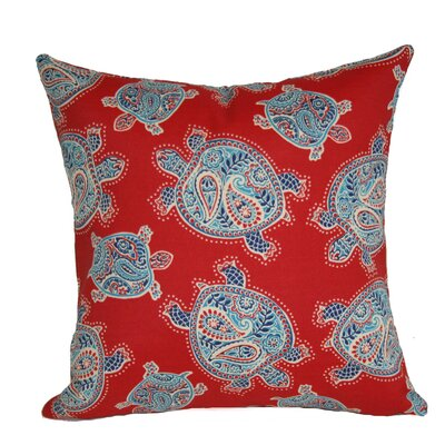 Coastal Tranquil Turtles Indoor/Outdoor Throw Pillow Size: 13 H x 13 W x 4 D, Color: Blue