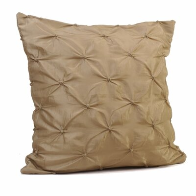 Button Throw Pillow Size: 24 H x 24 W x 5 D, Color: Silver