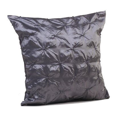 Button Throw Pillow Size: 17 H x 17 W x 4 D, Color: Silver