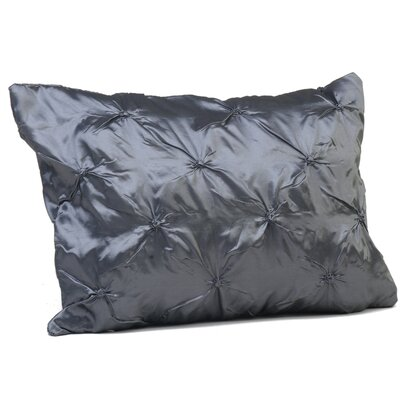 Button Boudoir Pillow Color: Silver