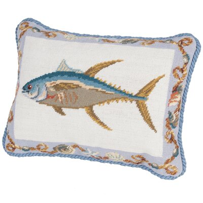 Fish Needlepoint Boudoir/Breakfast Pillow