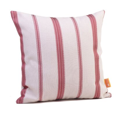 Hawthorne Stripe Throw Pillow Size: 24 H x 24 W x 5 D, Color: Cardinal