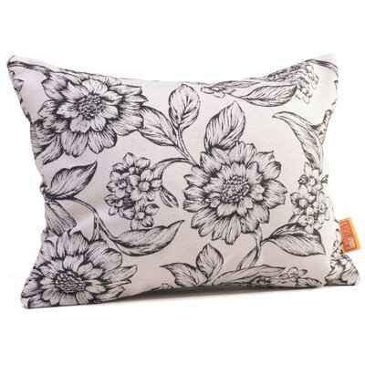 Hawthorne Floral Boudoir/Breakfast Pillow Color: Onyx