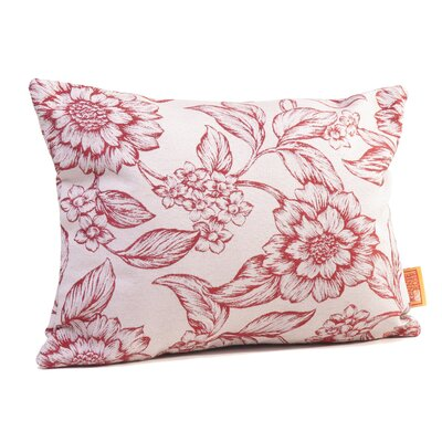 Hawthorne Floral Boudoir/Breakfast Pillow Color: Cardinal