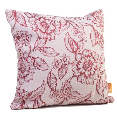 Hawthorne Floral Throw Pillow Size: 17 H x 17 W x 4 D, Color: Cardinal