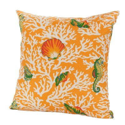 Kittery Indoor/Outdoor Throw Pillow Size: 17 H x 17 W x 4 D, Color: Orange