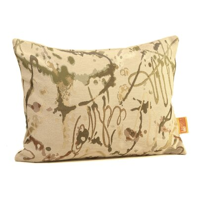 Drip Painting Boudoir/Breakfast Pillow Color: Fall Desert