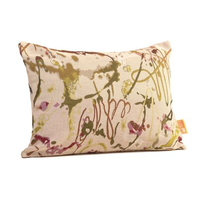Drip Painting Boudoir/Breakfast Pillow Color: Olive and Wine