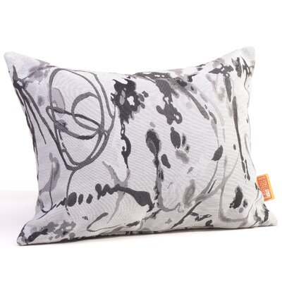 Drip Painting Boudoir/Breakfast Pillow Color: Steel
