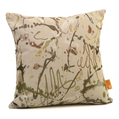 Drip Painting Throw Pillow Size: 24