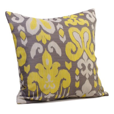 Sultra Throw Pillow Size: 17 H x 17 W x 4 D, Color: Sunny