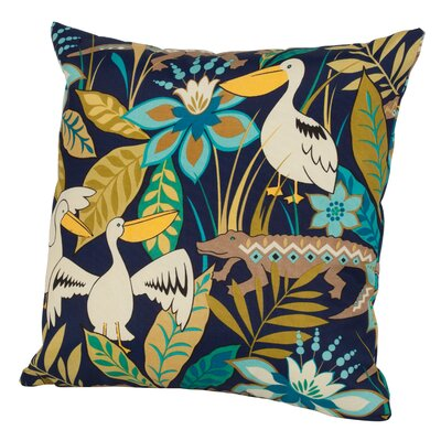 Glade Indoor/Outdoor Throw Pillow Size: 24 H x 24 W x 5 D, Color: Blue