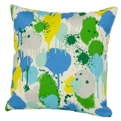 Neddick Indoor/Outdoor Throw Pillow Size: 24 H x 24 W x 5 D, Color: Blue
