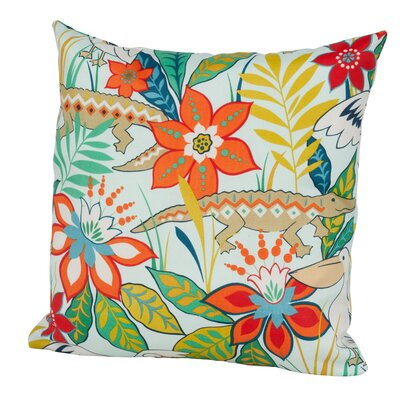 Glade Indoor/Outdoor Throw Pillow Size: 24 H x 24 W x 5 D, Color: Mist