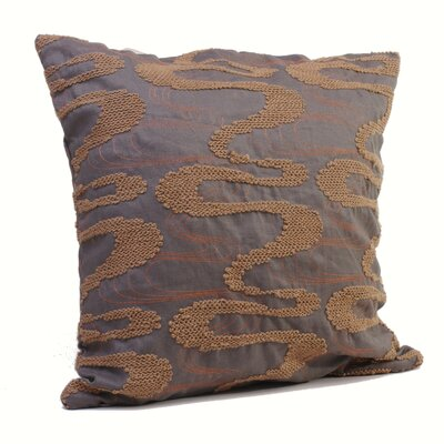 Viceroy Throw Pillow Size: 17 H x 17 W x 4 D, Color: Tangerine