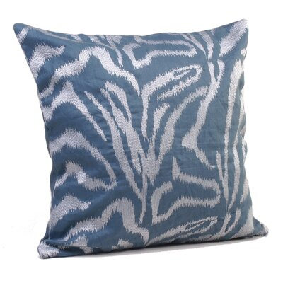 Farrah Throw Pillow Size: 24 H x 24 W x 5 D, Color: Deepwater Blue