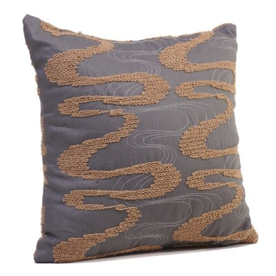 Viceroy Throw Pillow Size: 17 H x 17 W x 4 D, Color: Sandstone