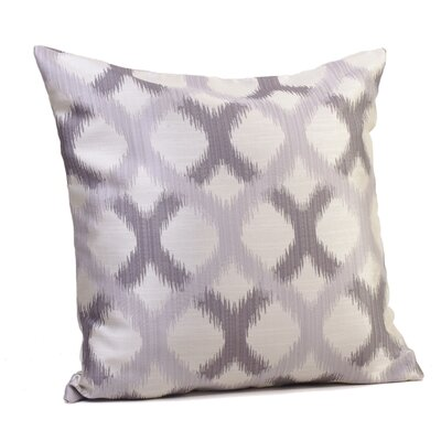 Barcelona Throw Pillow Size: 17 H x 17 W x 4 D, Color: Silver