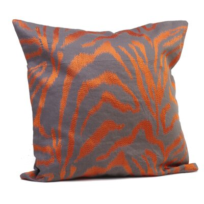Farrah Throw Pillow Size: 17 H x 17 W x 4 D, Color: Tangerine